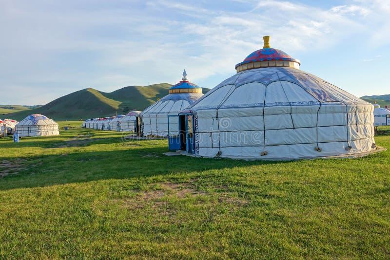 Μογγολικά yurts στοκ φωτογραφία