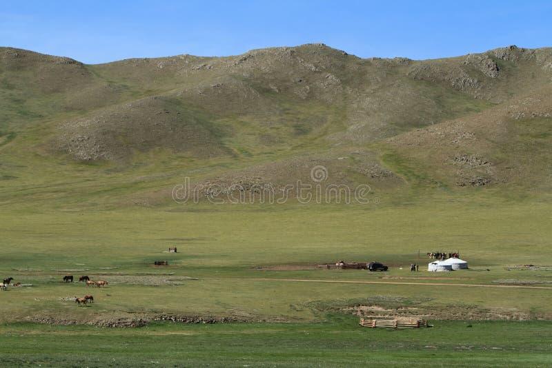 Μογγολικές τοπίο και φύση στοκ φωτογραφία