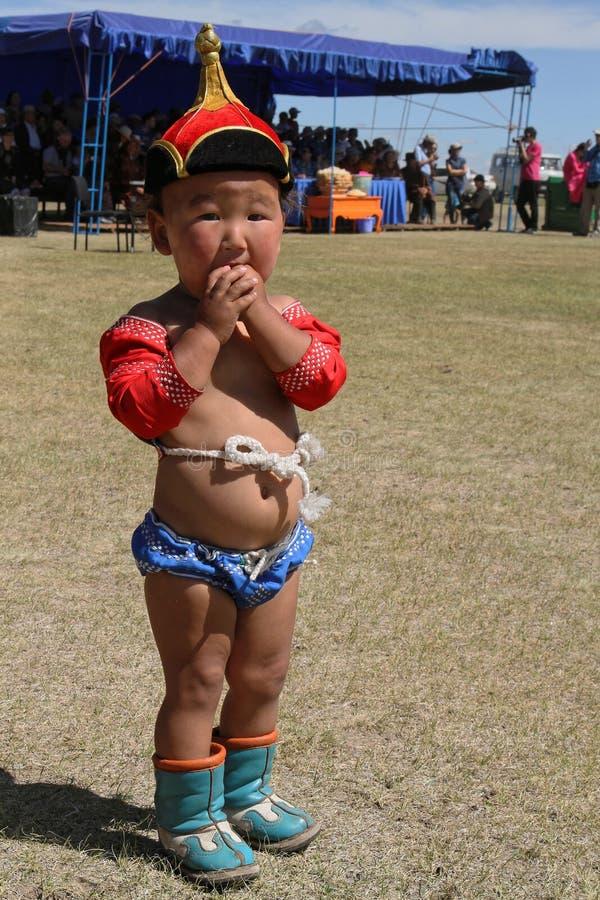 Μογγολικός παλαιστής μωρών στοκ φωτογραφίες με δικαίωμα ελεύθερης χρήσης