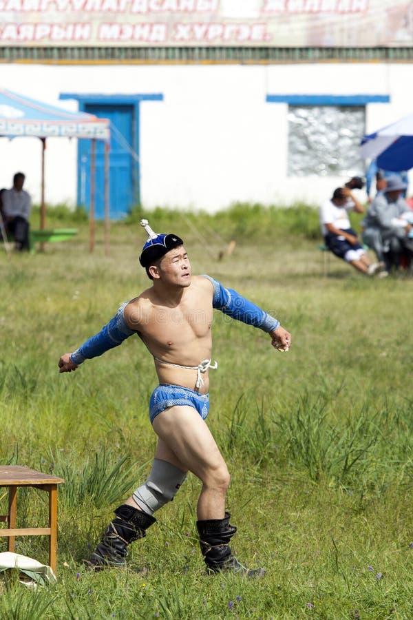 Μογγολικός παλαιστής στοκ φωτογραφίες