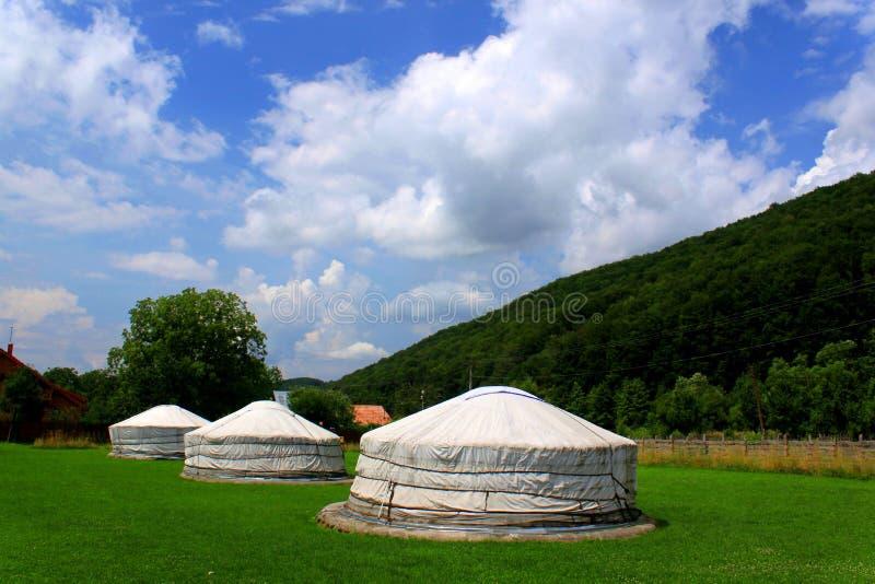 Μογγολικό σπίτι - yurts στοκ εικόνες
