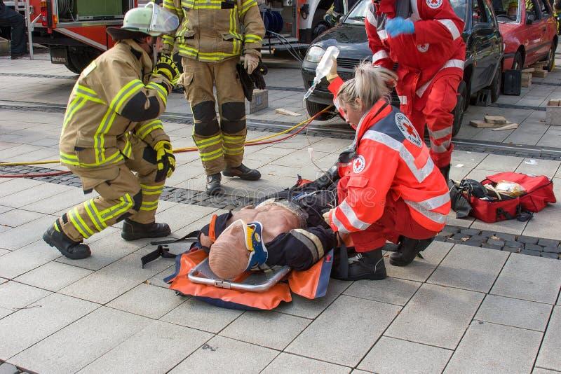 Μοιραίο τροχαίο ατύχημα - πρόσωπο που παγιδεύεται στοκ εικόνα με δικαίωμα ελεύθερης χρήσης