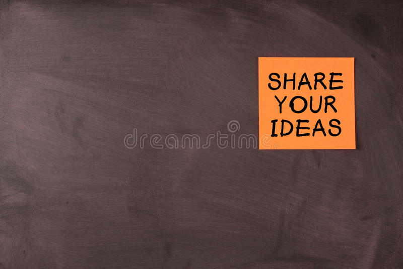 Μοιραστείτε τις ιδέες σας στοκ εικόνες