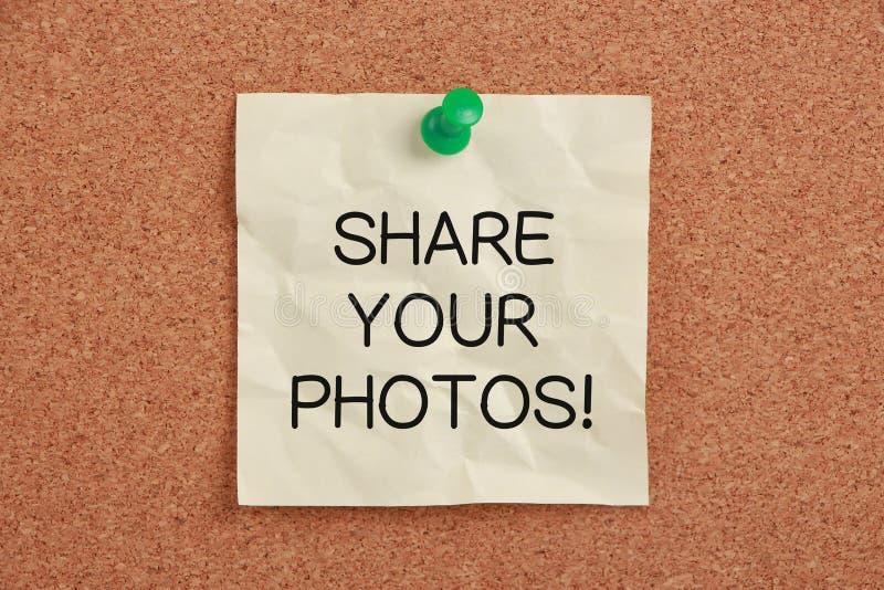 Μοιραστείτε τις φωτογραφίες σας στοκ φωτογραφίες