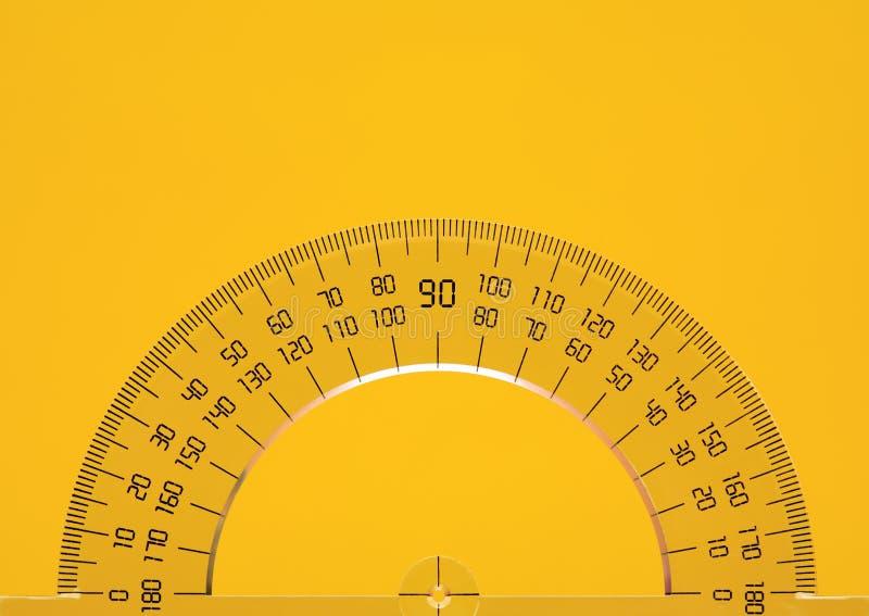 μοιρογνωμόνιο κίτρινο στοκ εικόνα