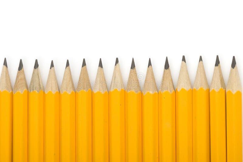 μολύβια γραμμών στοκ εικόνες
