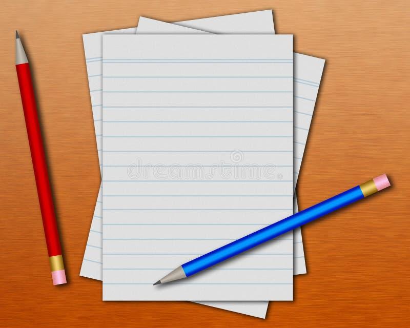 μολύβια εγγράφου στοκ εικόνες
