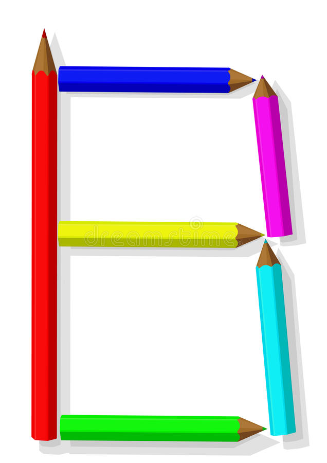 Download μολύβια επιστολών διανυσματική απεικόνιση. εικονογραφία από ομάδα - 13184798