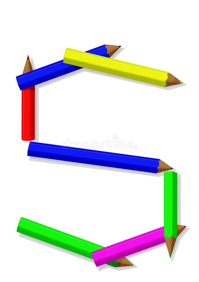 μολύβια επιστολών απεικόνιση αποθεμάτων