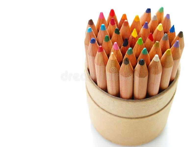 μολύβια καρδιών χρώματος στοκ φωτογραφίες με δικαίωμα ελεύθερης χρήσης