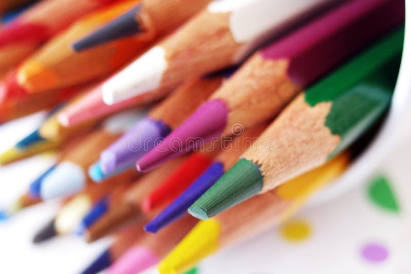 μολύβια παλετών χρωμάτων στοκ εικόνα