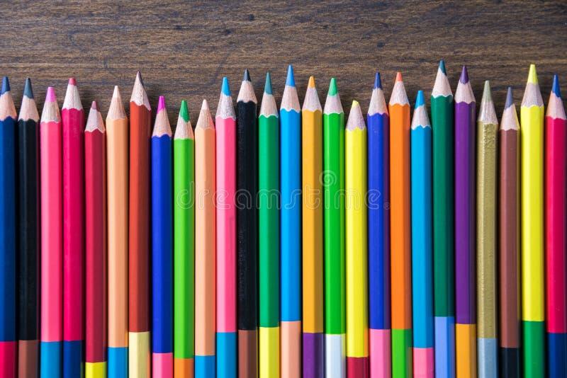 Μολύβια χρώματος για το υπόβαθρο στοκ φωτογραφία με δικαίωμα ελεύθερης χρήσης