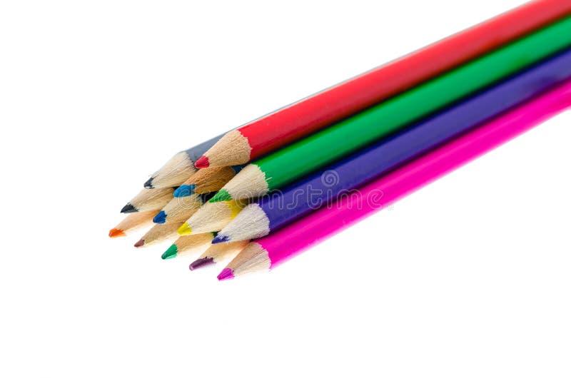 Μολύβια χρώματος που κολλιούνται στοκ φωτογραφίες με δικαίωμα ελεύθερης χρήσης