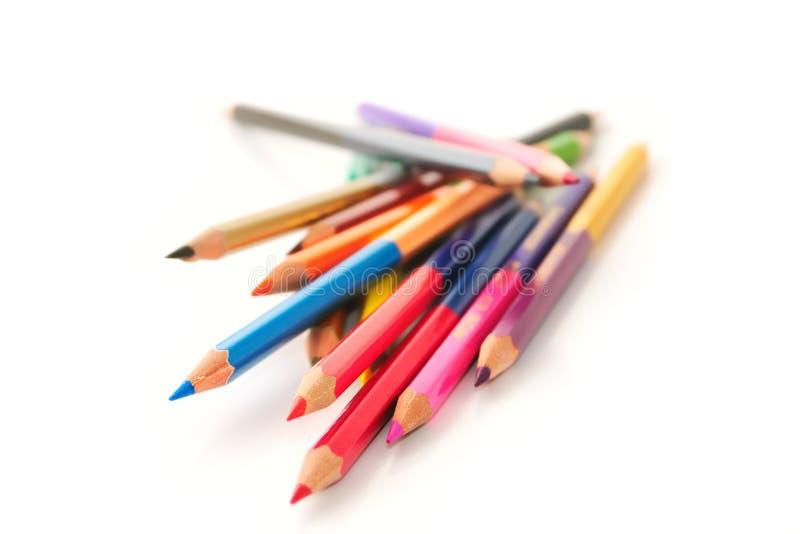 μολύβια χρώματος στοκ εικόνες με δικαίωμα ελεύθερης χρήσης