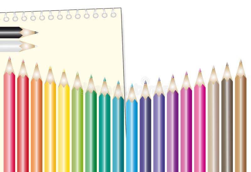 Download μολύβια χρώματος διανυσματική απεικόνιση. εικονογραφία από ομάδα - 22777504