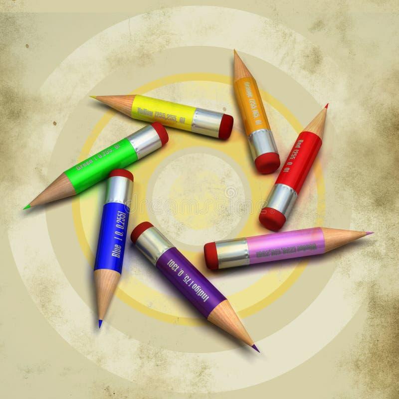 Download μολύβια χρώματος απεικόνιση αποθεμάτων. εικονογραφία από γραφή - 22783674