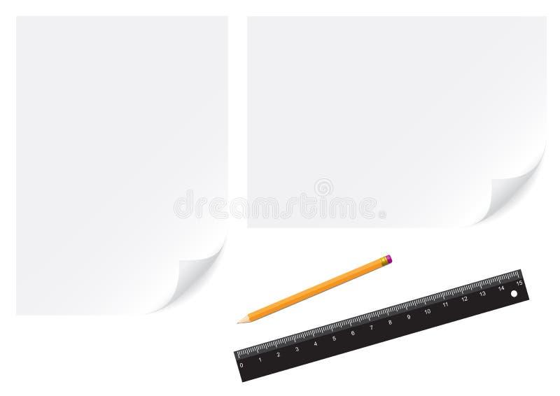 μολύβι εγγράφου απεικόνιση αποθεμάτων