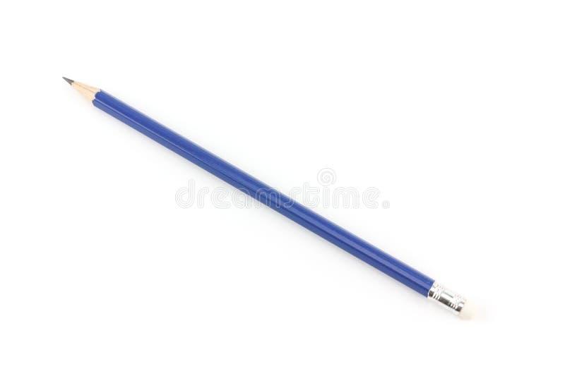 Μολύβι με τη γόμα που απομονώνεται στο άσπρο υπόβαθρο στοκ φωτογραφίες με δικαίωμα ελεύθερης χρήσης