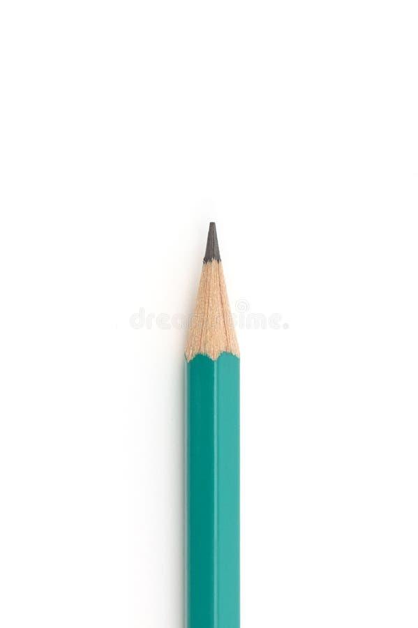 Μολύβι με τη γόμα που απομονώνεται στο άσπρο υπόβαθρο στοκ εικόνες