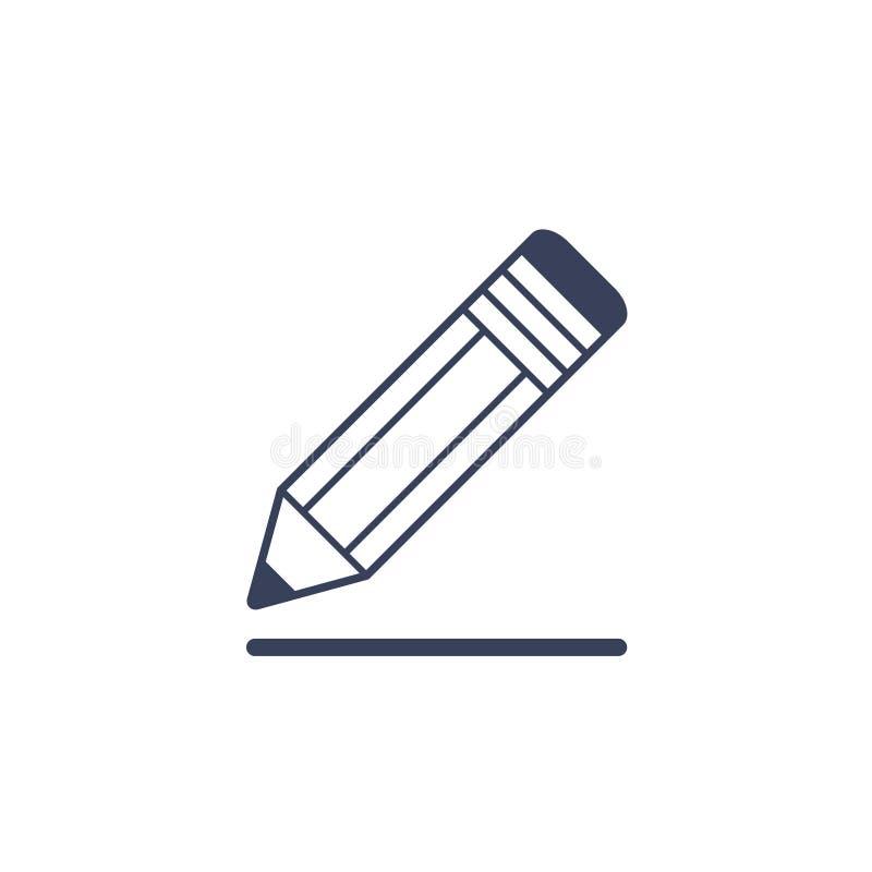 Μολύβι που επισύρει την προσοχή μια γραμμή που απομονώνεται στο άσπρο υπόβαθρο απεικόνιση αποθεμάτων