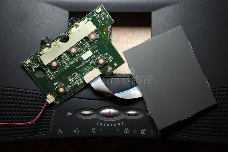Μονάδα ελέγχου μαξιλαριών αφής υπολογιστών που αφαιρείται από τη μηχανή στενό σε επάνω στοκ εικόνα με δικαίωμα ελεύθερης χρήσης