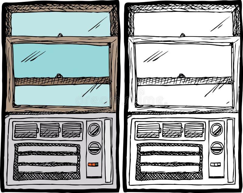 Μονάδα παραθύρων κλιματιστικών μηχανημάτων ελεύθερη απεικόνιση δικαιώματος