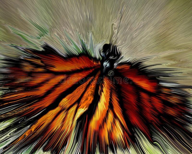 μονάρχης β ανεμοφράκτης διανυσματική απεικόνιση