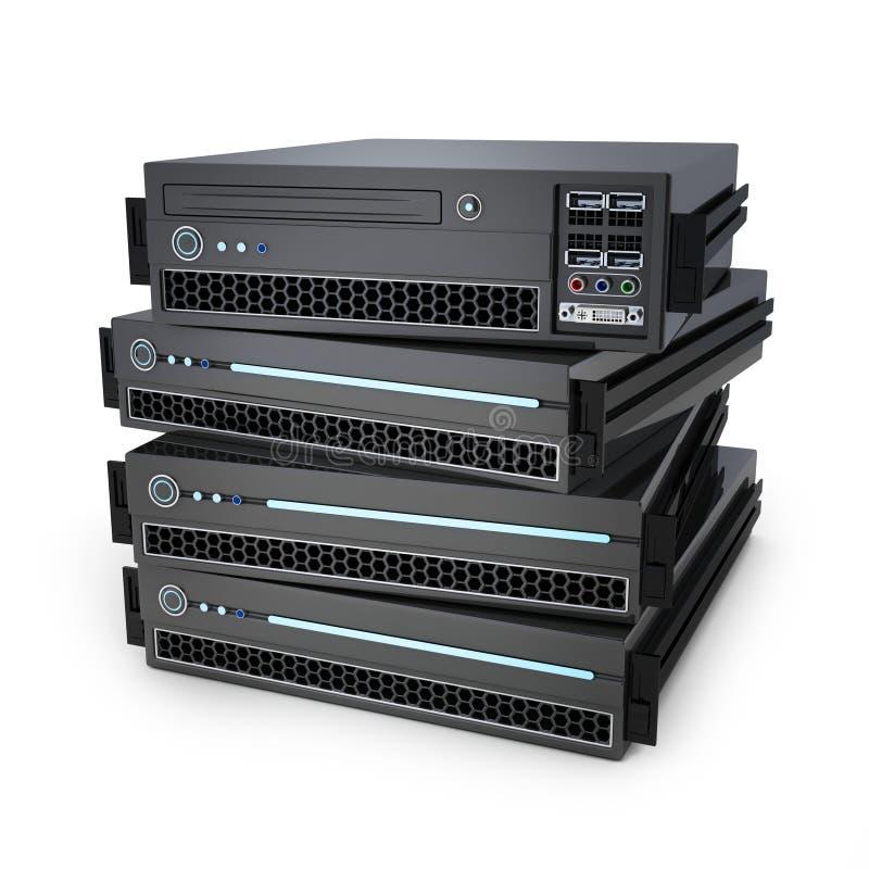 Μονάδα κεντρικών υπολογιστών διανυσματική απεικόνιση