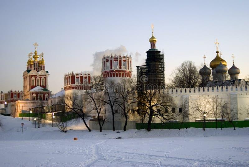 μονή Μόσχα novodevichy Χειμερινή φωτογραφία χρώματος στοκ φωτογραφίες με δικαίωμα ελεύθερης χρήσης