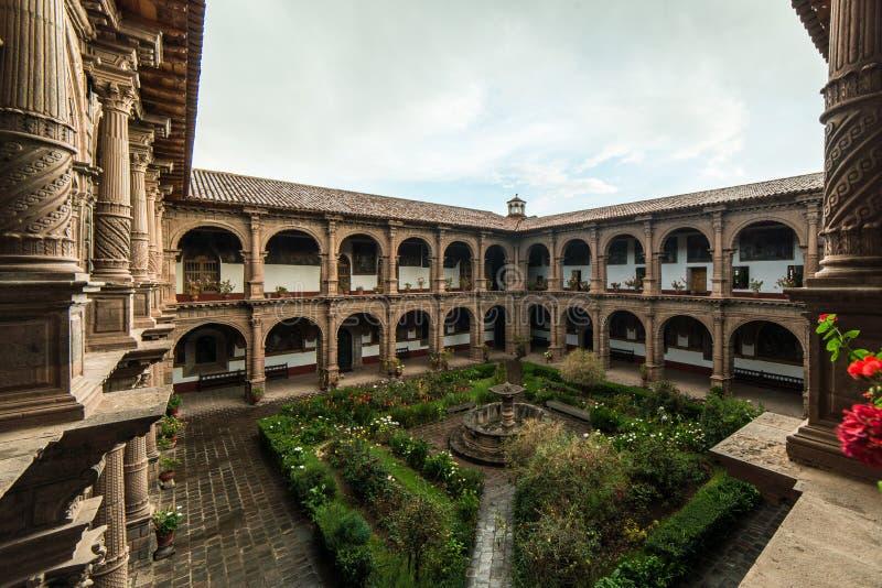 Μονή της κυρίας Mercy μας Iglesia de Λα Merced σε Cusco, Περού στοκ φωτογραφία