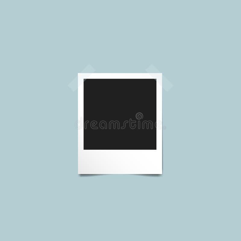 Μοναδικό εκλεκτής ποιότητας πρότυπο Polaroid πλαισίων φωτογραφιών διανυσματική απεικόνιση