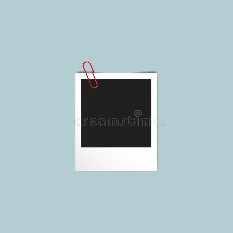 Μοναδικό εκλεκτής ποιότητας πρότυπο Polaroid πλαισίων φωτογραφιών ελεύθερη απεικόνιση δικαιώματος
