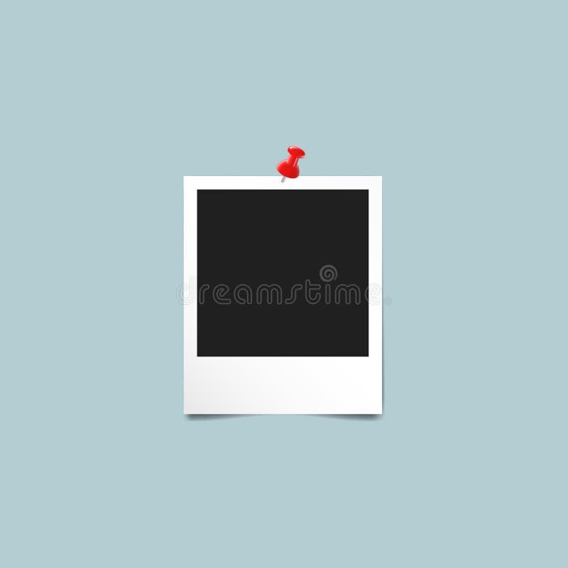 Μοναδικό εκλεκτής ποιότητας πρότυπο Polaroid πλαισίων φωτογραφιών απεικόνιση αποθεμάτων