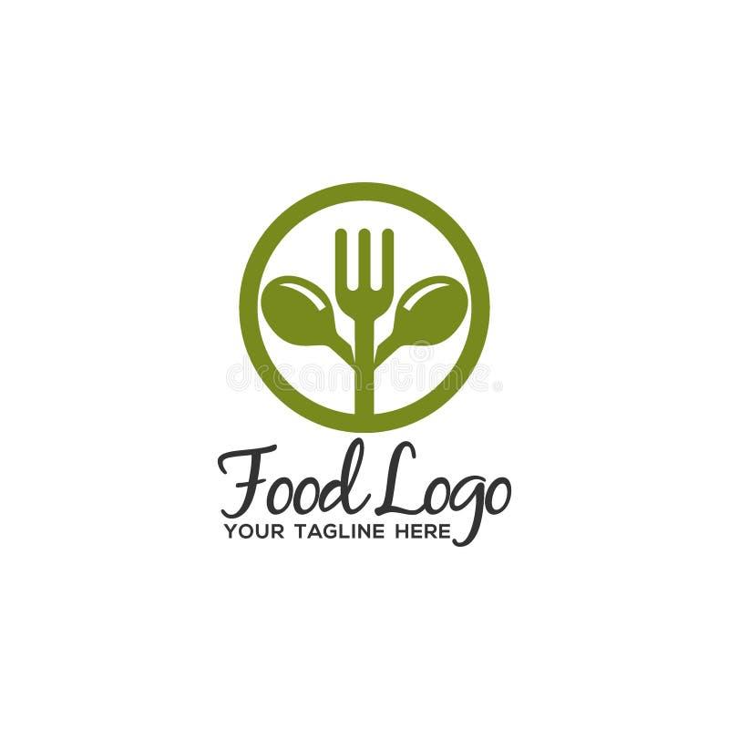 Μοναδικό και αρχικό πρότυπο λογότυπων τροφίμων ελεύθερη απεικόνιση δικαιώματος