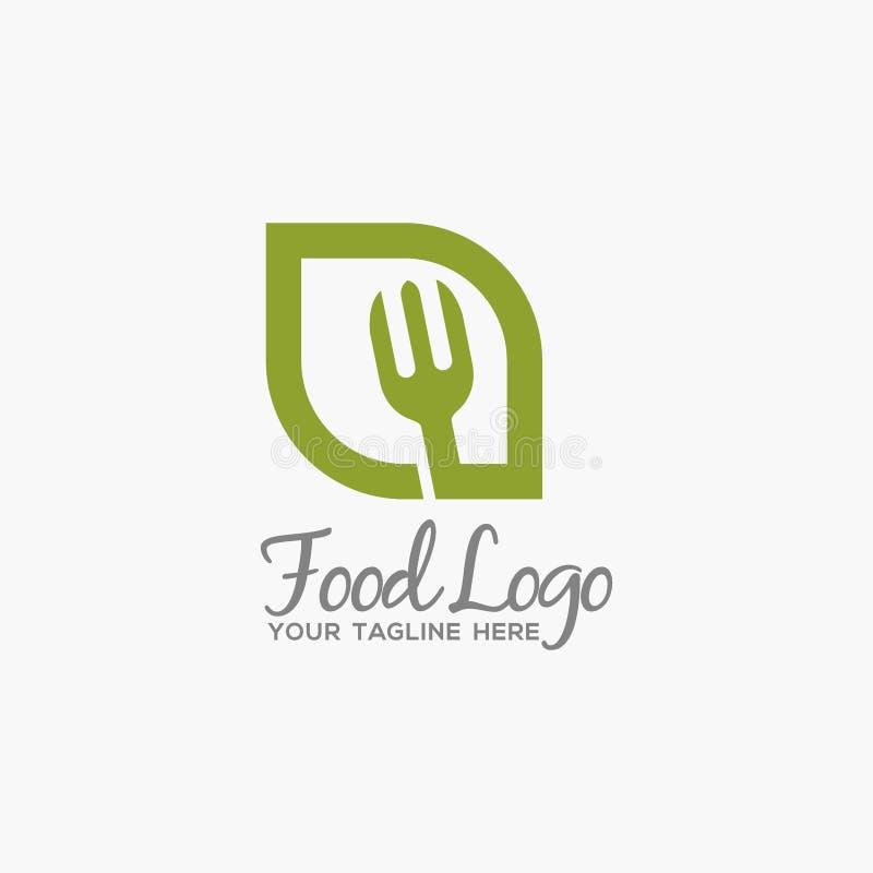 Μοναδικό και αρχικό πρότυπο λογότυπων τροφίμων απεικόνιση αποθεμάτων