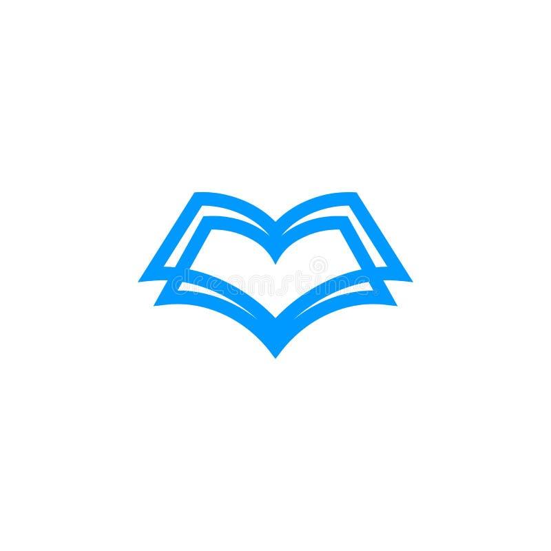Μοναδικό λογότυπο βιβλίων μορφής διανυσματική απεικόνιση