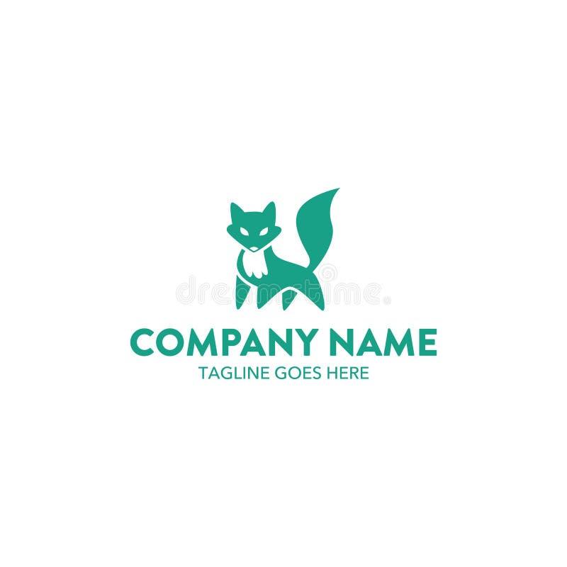 Μοναδικό πρότυπο λογότυπων αλεπούδων διάνυσμα editable απεικόνιση αποθεμάτων