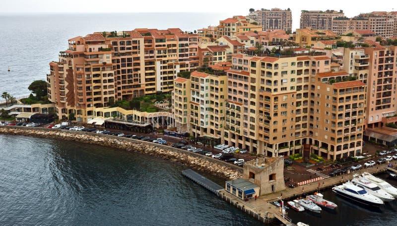 Μονακό - περιοχή Fontvieille αρχιτεκτονικής στοκ εικόνα