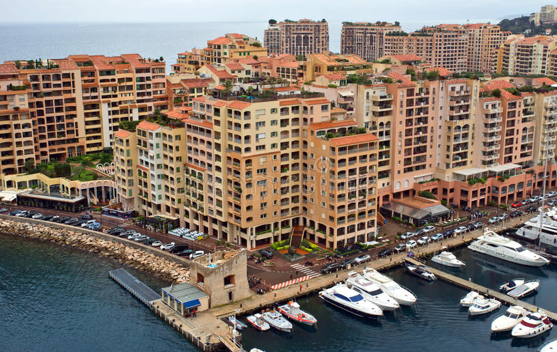 Μονακό - περιοχή Fontvieille αρχιτεκτονικής στοκ φωτογραφία με δικαίωμα ελεύθερης χρήσης
