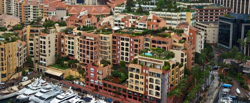 Μονακό - περιοχή Fontvieille αρχιτεκτονικής στοκ φωτογραφία