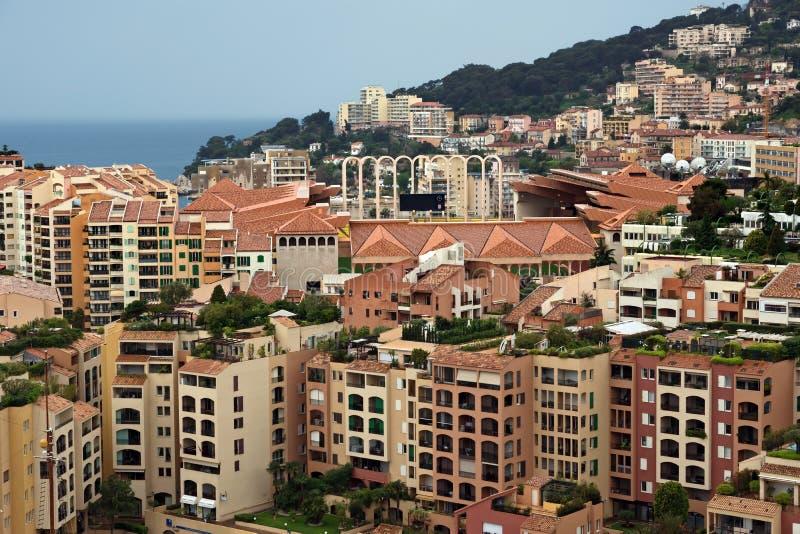 Μονακό - περιοχή Fontvieille αρχιτεκτονικής στοκ εικόνες με δικαίωμα ελεύθερης χρήσης