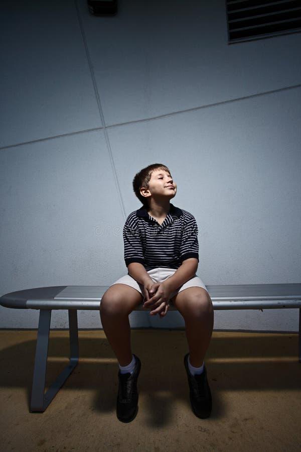 μοναξιά συνεδρίασης στοκ φωτογραφία με δικαίωμα ελεύθερης χρήσης