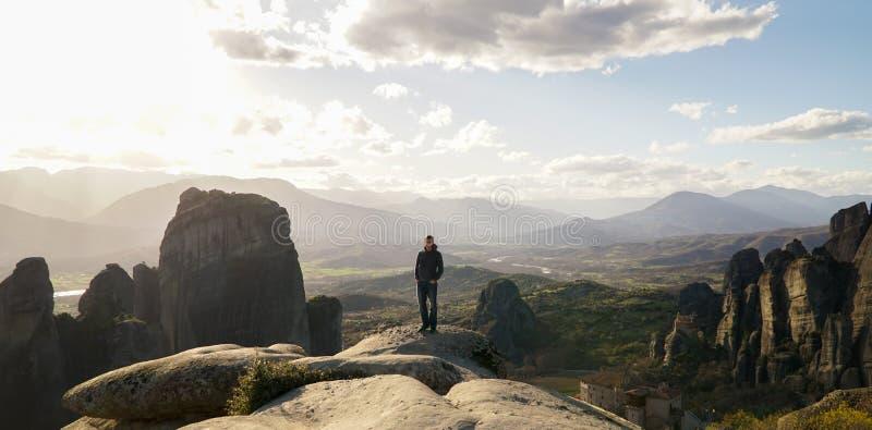 Μοναστήρια βράχου σε Meteora, Ελλάδα στοκ φωτογραφία με δικαίωμα ελεύθερης χρήσης