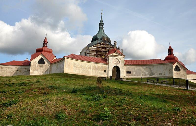 Μοναστήρι Ζελένα Χόρα, πόλη Ζντάρ και Σαζάβου, Τσεχική δημοκρατία, Ευρώπη στοκ φωτογραφία