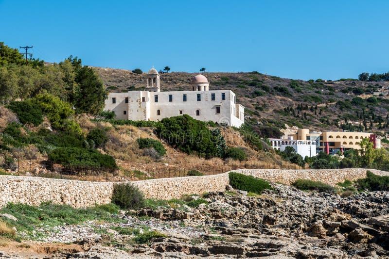 Μοναστήρι Κρήτη Odigitria Gonia στοκ φωτογραφία