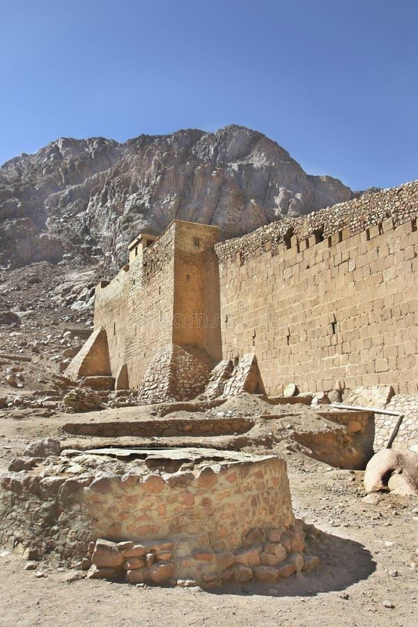 μοναστήρι Μωυσής ST catherines καλά στοκ εικόνα
