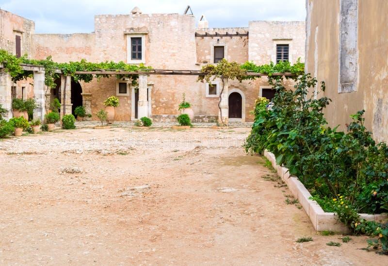 Μοναστήρι της Αρκαδίας στην Κρήτη στοκ φωτογραφία