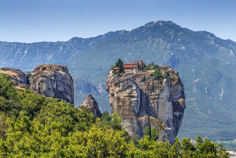 Μοναστήρι της ιερής τριάδας, Meteora, Ελλάδα στοκ εικόνα