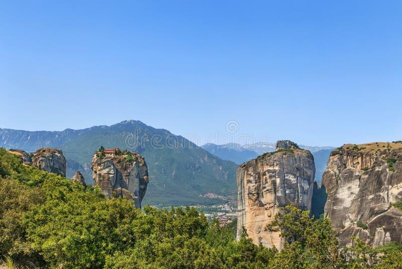 Μοναστήρι της ιερής τριάδας, Meteora, Ελλάδα στοκ φωτογραφία