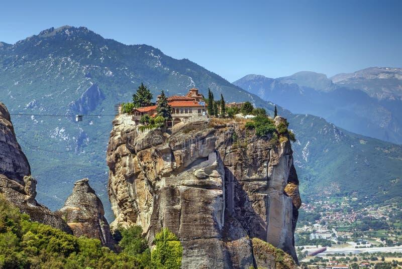 Μοναστήρι της ιερής τριάδας, Meteora, Ελλάδα στοκ εικόνες με δικαίωμα ελεύθερης χρήσης